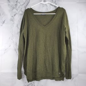 AEO V-neck Fitted Sleeve Pullover Sweater